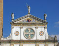 Detail of a church architectural details on beautiful catholic near venice italy Stock Photos