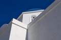 Detail of a church in Iraklia island, Greece Royalty Free Stock Photo