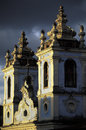 Detail of church of Nossa Senhora dos Pretos, Salvador, Brazil. Royalty Free Stock Photo
