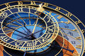 Detail of clock on the tower in Prague with a horoscope Royalty Free Stock Photo