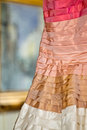 Detail of a colored wedding dress beautiful Stock Image