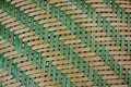 Detail of colorful basketwork background Stock Photography