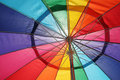 Detail of colorful umbrella Royalty Free Stock Photo