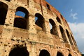 Detail of colosseo roma italy the colosseum or coliseum also known as the flavian amphitheatre is an elliptical amphitheatre in Stock Images