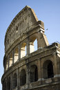 Detail of colosseum in rome italy side the roman Stock Photo