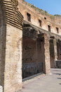 Detail of the colosseum ruins in rome inside Royalty Free Stock Images
