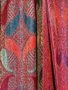 Detail of Colourful Scarves Royalty Free Stock Photo