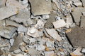 Detail construction and demolition debris at construction site Royalty Free Stock Photo