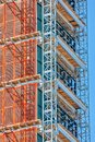Detail of the construction of a new skyscraper in New York Royalty Free Stock Photo