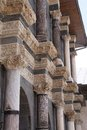 Detail of corinthian columns the the courtyard the ulu cami in diyarbakir turkey Stock Image
