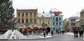 Detail of the Council Square (Piata Sfatului) Brasov, Transylvania Royalty Free Stock Photo