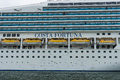 Detail of a cruise liner costa fortuna rostock germany august is ship destiny class length m capacity Stock Images