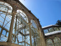 Detail the crystal palace of El Retiro Madrid Royalty Free Stock Images