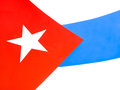 Detail of cuban flag with typical colors Royalty Free Stock Photography