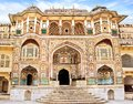 Detail of decorated gateway amber fort jaipur india Royalty Free Stock Images