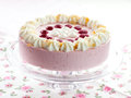 Detail delicious strawberry cream cake Stock Image