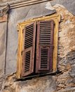 Detail of Derelict Central Athens Building, Greece Royalty Free Stock Photo