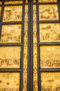 Detail of the Doors of Paradise in Battisteroi Royalty Free Stock Photo