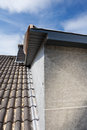 Detail of a dormer corner new built on old house Stock Photography