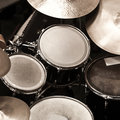 Detail of a drum kit Royalty Free Stock Photo