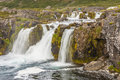 Detail of Dynjandi waterfall - Iceland. Stock Photo