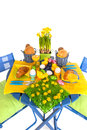 Detail easter table Royalty Free Stock Images