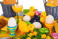Detail easter table Royalty Free Stock Photos