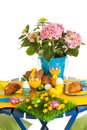 Detail easter table Stock Photos