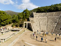 Detail of Epidaurus ancient Theater in greece Royalty Free Stock Photography