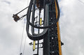 Detail equipment mast oil drilling rig Royalty Free Stock Photos