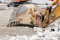 Detail of an excavator Royalty Free Stock Photo