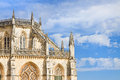 Detail of the facade of Batalha cathedral in Portugal Royalty Free Stock Photo