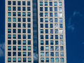 Detail of the facade of a business building in Frankfurt, German Royalty Free Stock Photo