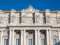 Detail of Facade of Doge's Palace Genoa (Palazzo Ducale) Royalty Free Stock Photo