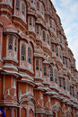 Detail of the facade hawa mahal jaipur rajasthan india Royalty Free Stock Image