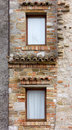 Detail of the Facade of a Historic Building Royalty Free Stock Photo