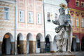 Detail of fountain in Telc, Czech republic Royalty Free Stock Photos