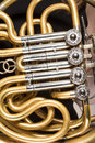 Detail of french horn Royalty Free Stock Photo