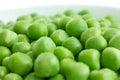 Detail of fresh garden peas Royalty Free Stock Photo