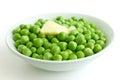 Detail of fresh garden peas. Royalty Free Stock Photo