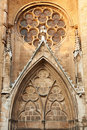 Detail fron Saint-Saveur cathedral in france Stock Photo