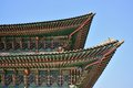 Detail of geunjeongjeon in gyeongbok palace in seoul korea Stock Photos