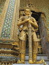 Detail of a giant, Wat Phra Kaew, Bangkok, Thailand Stock Photos