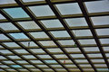 Detail of a glass roof giant windows Stock Photo