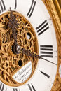 Detail of gold and white historic clock Stock Image