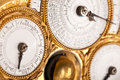 Detail of gold and white historic clock Stock Photo