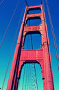 Detail of golden gate bridge in san francisco united states Royalty Free Stock Photo