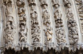 Detail of gothic cathedral of notre dame in paris Royalty Free Stock Photography
