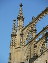 Detail of gothic portico st barbora cathedral czech republic Stock Photography