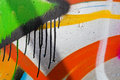 Detail of graffiti with several layers paint Stock Images